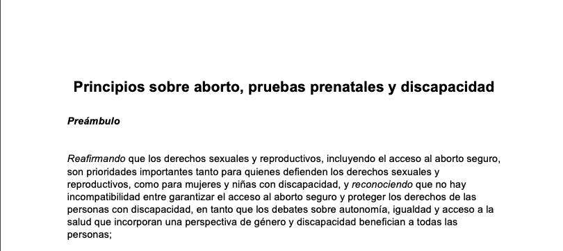 The Nairobi Principles Spanish